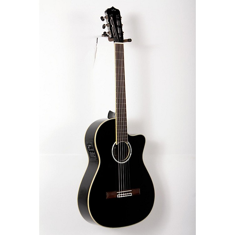 Cordoba Fusion 12 Jet Acoustic-Electric Nylon String Classical Guitar Black 888365791753