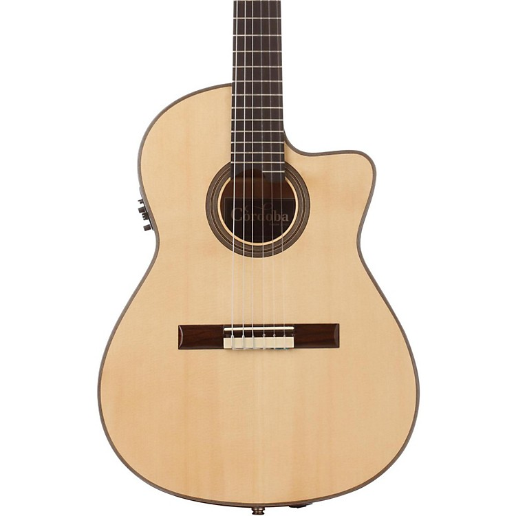 CordobaFusion 14 Maple Acoustic-Electric Nylon String Classical GuitarNatural
