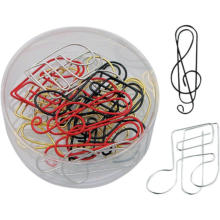 AIMG-Clef And Note Assorted Color Paper Clips