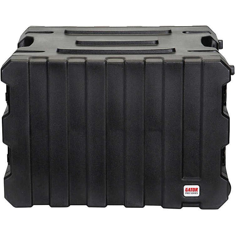 Gator G-Pro Roto Mold Rolling Rack Case Black 8 Space