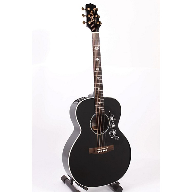Takamine G Series EG451 Deluxe NEX Mahogany Acoustic-Electric Guitar Black 886830743870