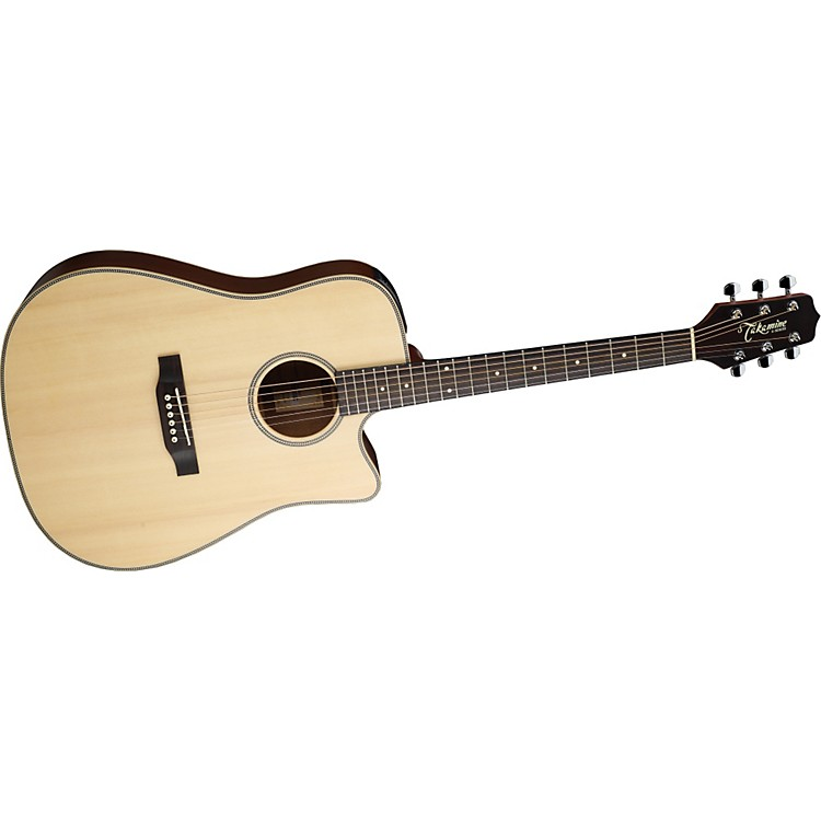 TakamineG Series EG511SSC Cutaway Dreadnought Herringbone Acoustic-Electric Guitar