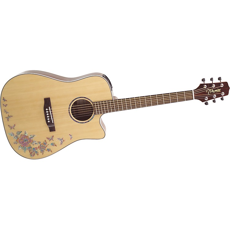 TakamineG Series G530S-BF Dreadnought Butterfly Acoustic Guitar