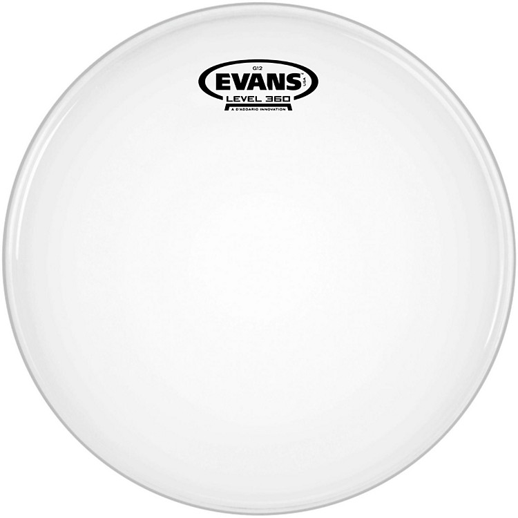 Evans G12 Coated White Batter Drumhead 12 in.