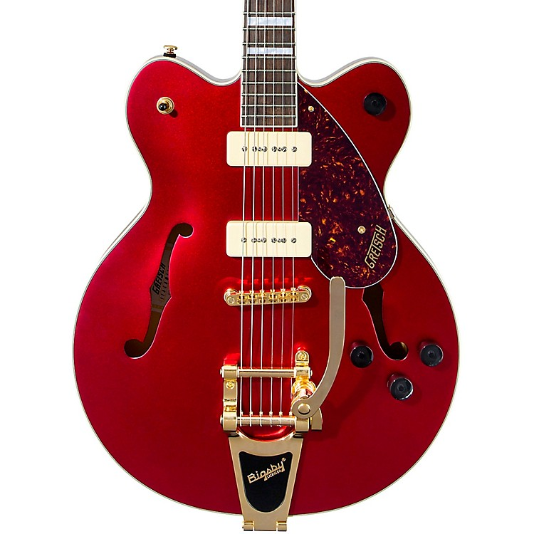 Gretsch Guitars G2622TG-P90 Limited Edition Streamliner Center Block P90 with Bigsby Electric Guitar Candy Apple Red