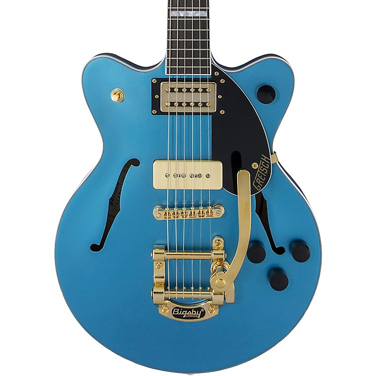 Gretsch GuitarsG2655TG-P90 Streamliner Center Block Jr. P90 with Bigsby Limited Edition Semi-Hollow Electric GuitarRiviera Blue