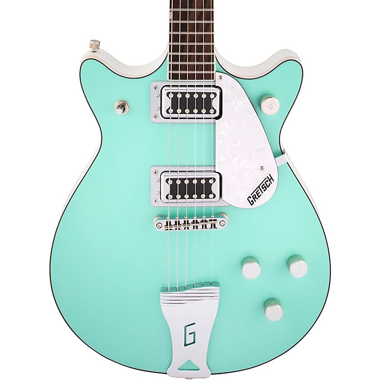 Gretsch Guitars G5237 Electromatic Double Jet FT Electric Guitar Surf Green and White
