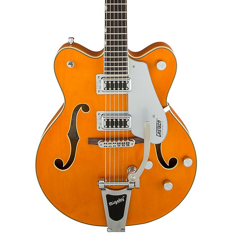 Gretsch Guitars G5422T Electromatic Double Cutaway with Bigsby Hollowbody Electric Guitar Amber Stain