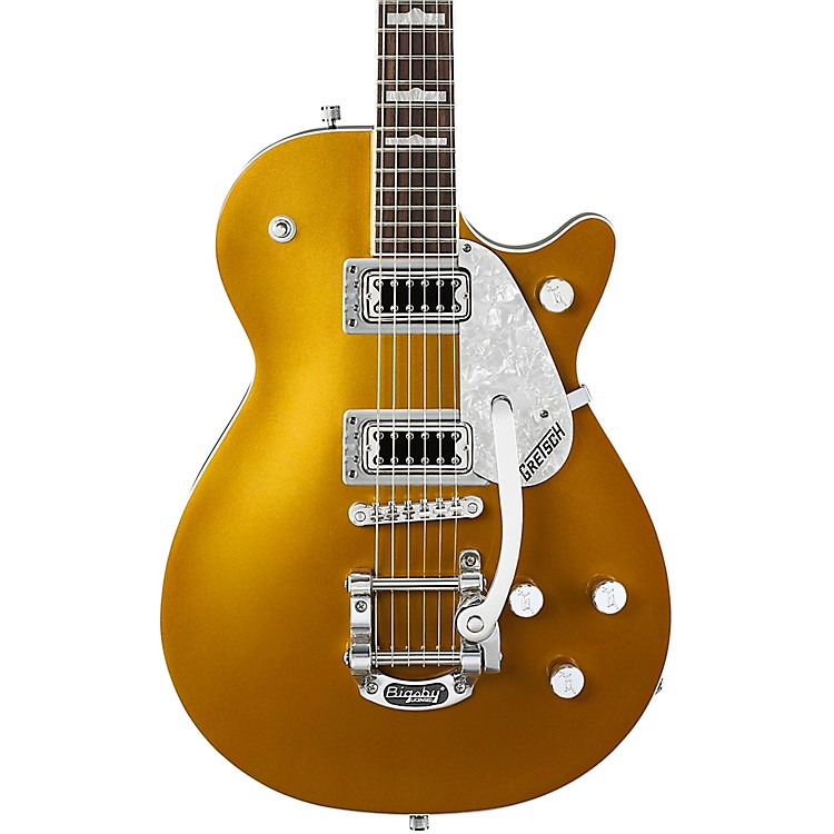 Gretsch GuitarsG5438T Electromatic Pro Jet with Bigsby Electric GuitarGold888365901473