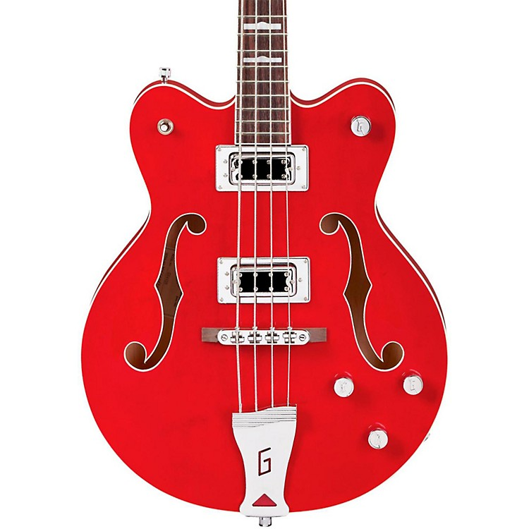 Gretsch Guitars G5442BDC Electromatic Short Scale Hollowbody Bass Transparent Red 888365897912