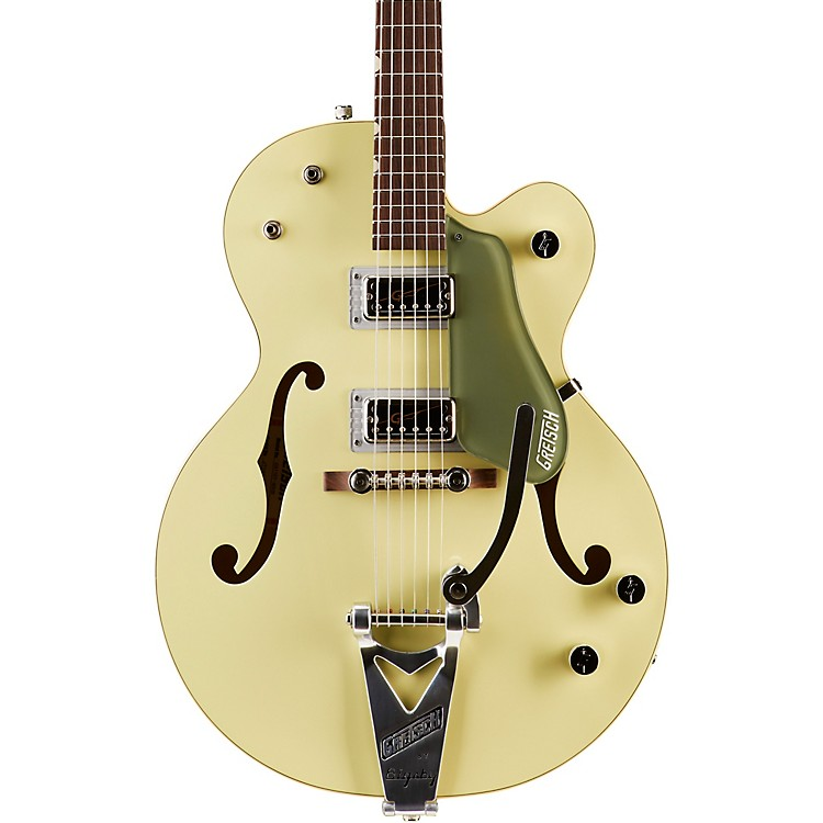 Gretsch GuitarsG6118T-60 Vintage Select Edition '60 Anniversary Hollowbody with Bigsby2-Tone Smoke Green