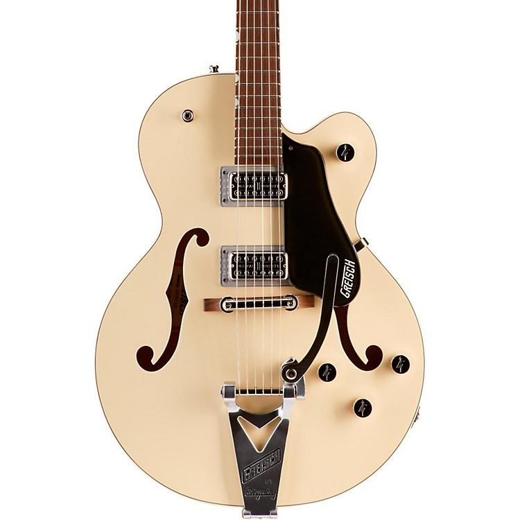 Gretsch Guitars G6118T Anniversary with Bigsby Hollowbody Electric Guitar 2-Tone Lotus Ivory and Charcoal Metallic