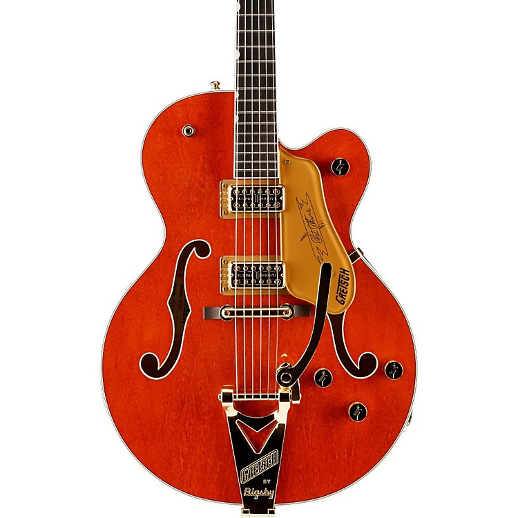 Gretsch Guitars G6120T Nashville with Bigsby Hollowbody Electric Guitar Orange