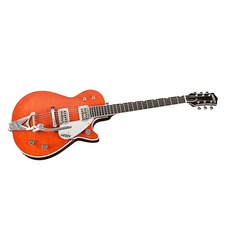 Gretsch GuitarsG6128T-TVTAFWO Duo Jet FSR Flame Top Electric GuitarWestern Orange