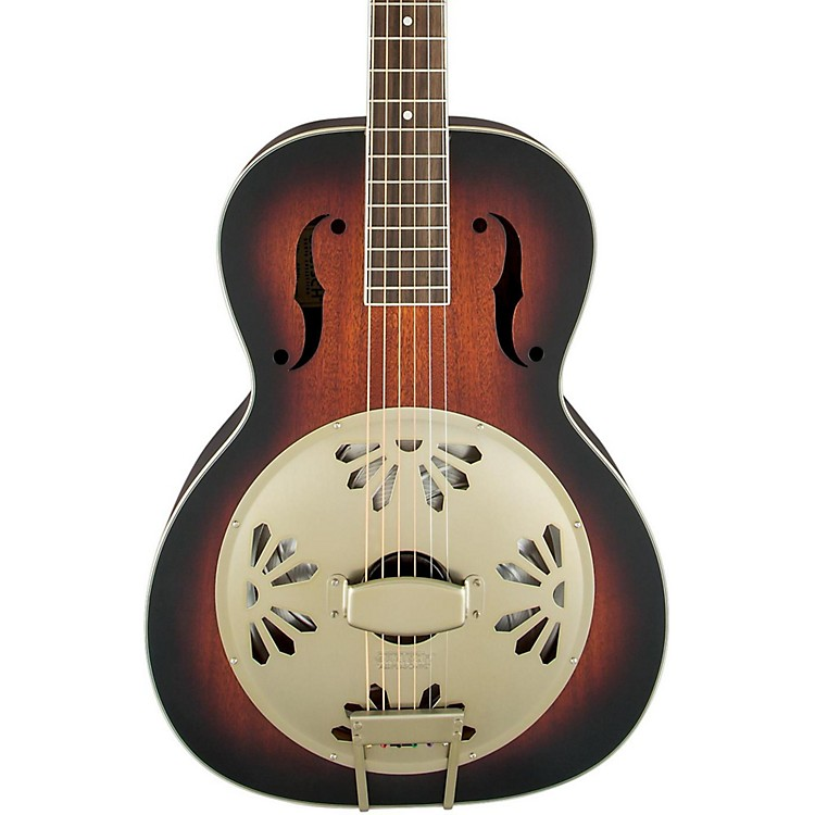 Gretsch Guitars G9241 Alligator Biscuit Round Neck Acoustic-Electric Resonator Guitar 2-Color Sunburst