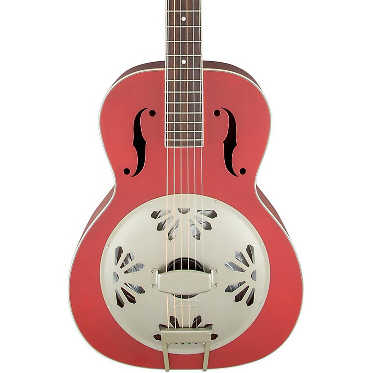 Gretsch Guitars G9241 Alligator Biscuit Round-Neck Acoustic-Electric Resonator Guitar Chieftain Red