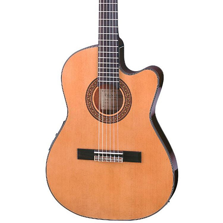 Ibanez GA Series GA5TCE Thinline Classical Acoustic-Electric Guitar Natural