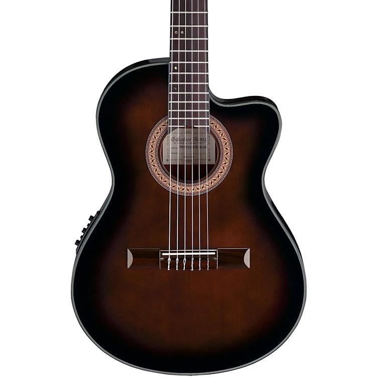 IbanezGA35 Thinline Acoustic-Electric Classical GuitarDark Violin Burst
