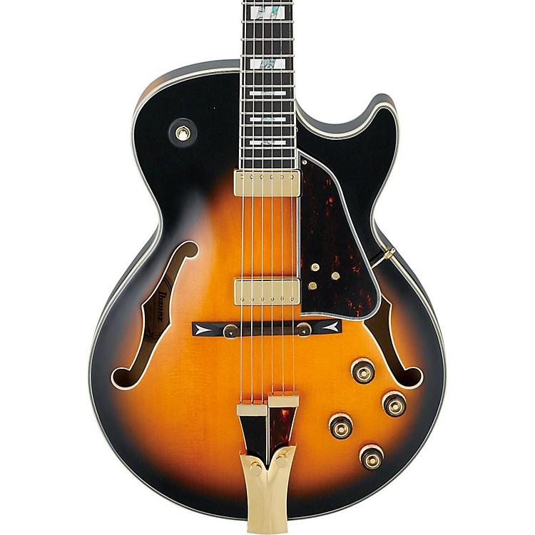 Ibanez GB Series GB10SE George Benson Signature Hollow Body Electric Guitar Brown Sunburst Tortoise Pickguard