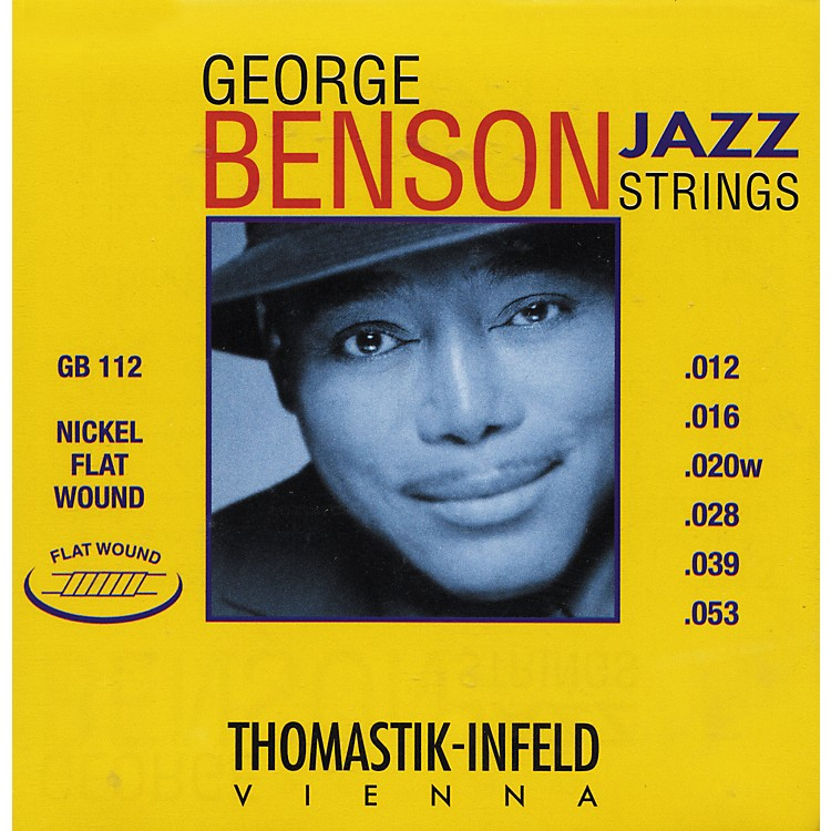 ThomastikGB112 Medium Light George Benson Custom Flatwound Guitar Strings