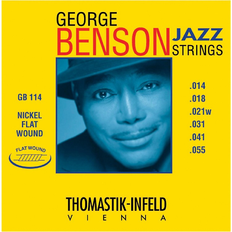 Thomastik GB114 George Benson Custom Heavy Flatwound Jazz Guitar Strings