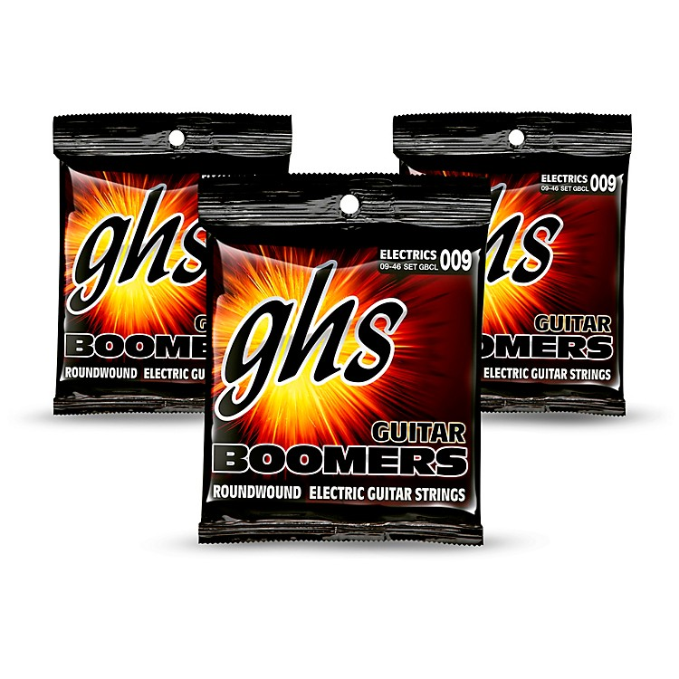 GHS GBCL Boomers Custom Light Electric Guitar Strings - 3-Pack