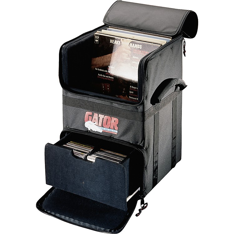 Gator GDJ-CADDY-100 Rolling DJ LP and CD Transporter