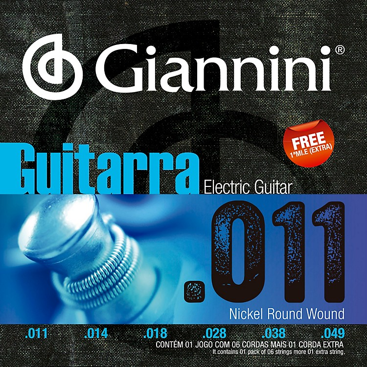 Giannini GEEGST Nickel Round Wound Electric Guitar Strings .011-.048 Medium
