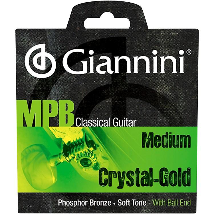 GianniniGENWG Classical Guitar Medium Tension Phosphor Bronze Clear Nylon Ball End Strings