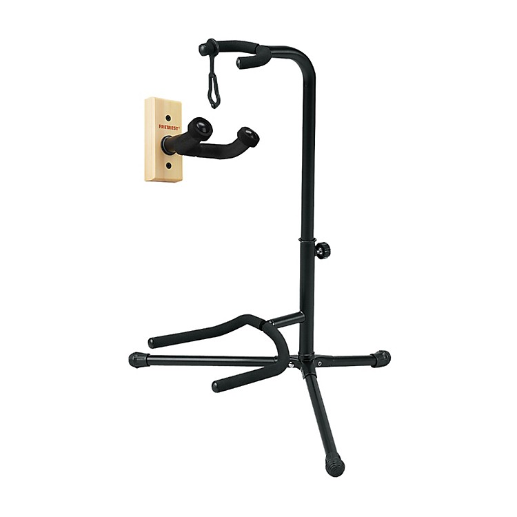 Musician's Gear GH1 Guitar Wall Hanger and SSG-303 Tubular Guitar Stand Package Natural