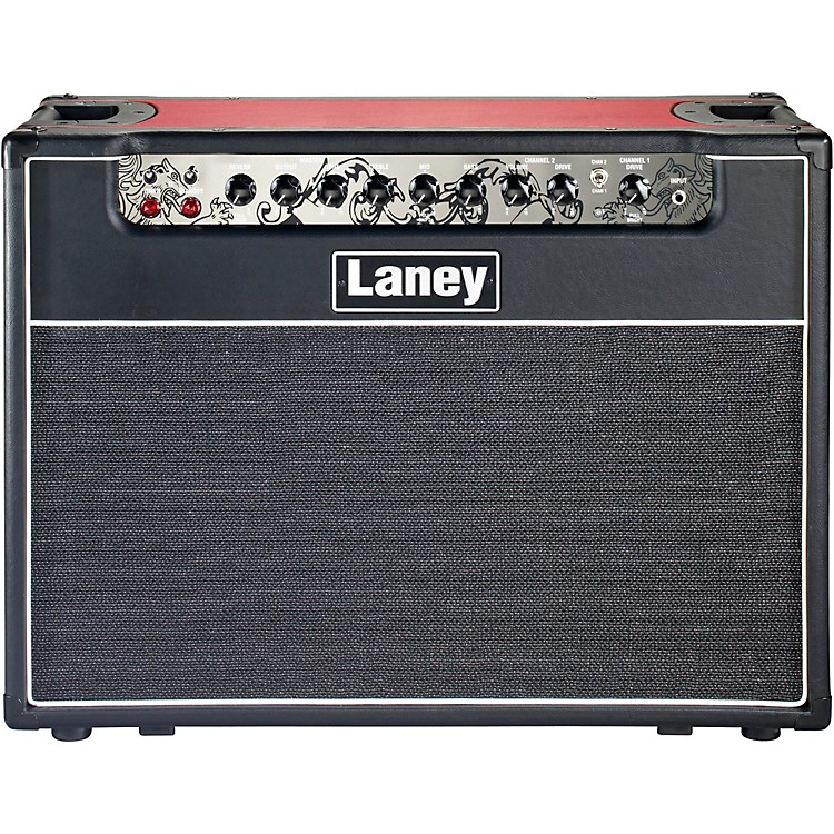 Laney GH50R-212 50W 2x12 Tube Guitar Combo Amp Black and Red