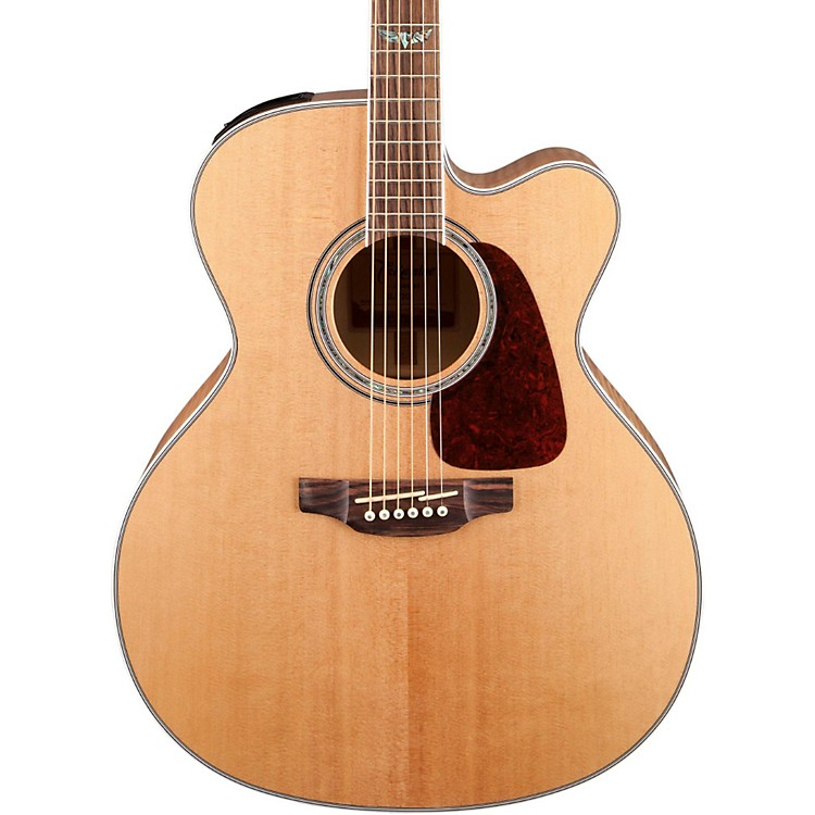 Takamine GJ72CE G Series Jumbo Cutaway Acoustic-Electric Guitar Natural Flame Maple