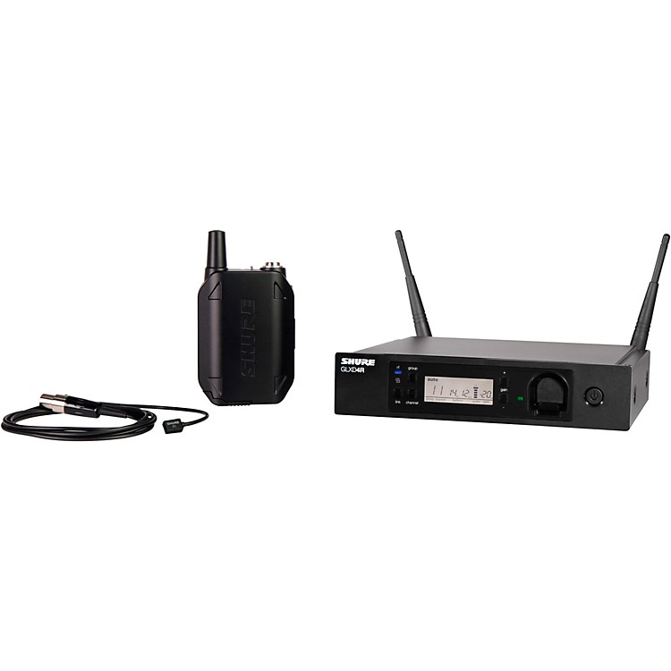 Shure GLXD14R Advanced Wireless System with WL93 Lavalier Microphone Band 1 Black