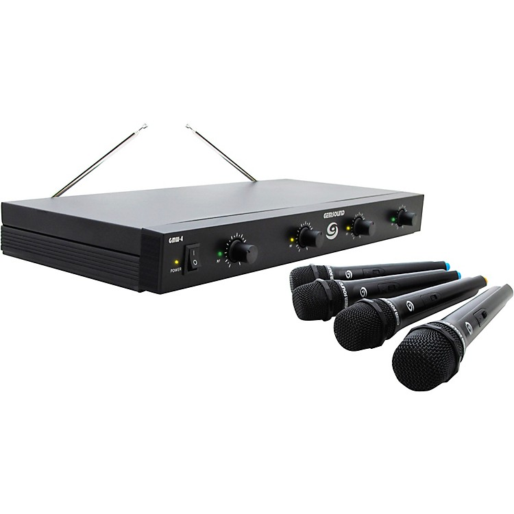 Gem Sound GMW-4 Quad-Channel Wireless Mic System AB