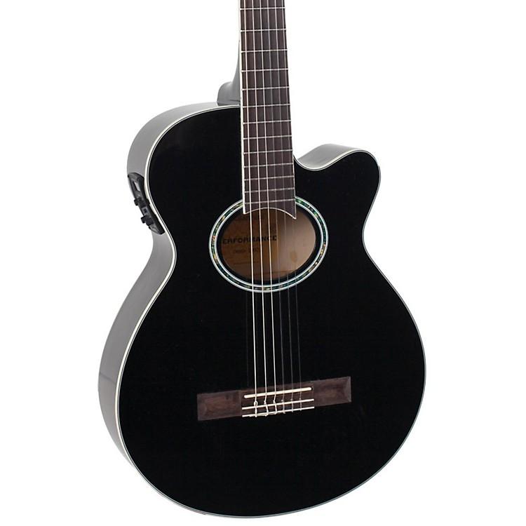 GianniniGNF-1R CEQ Mini Jumbo Nylon Acoustic-Electric GuitarGloss Black
