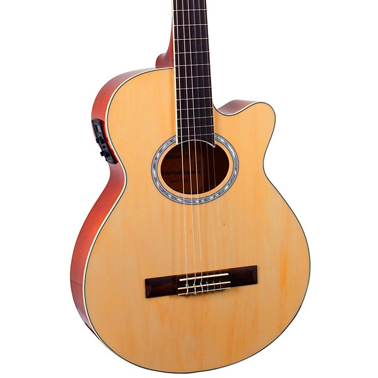 Giannini GNF-1R CEQ Mini Jumbo Nylon Acoustic-Electric Guitar Natural