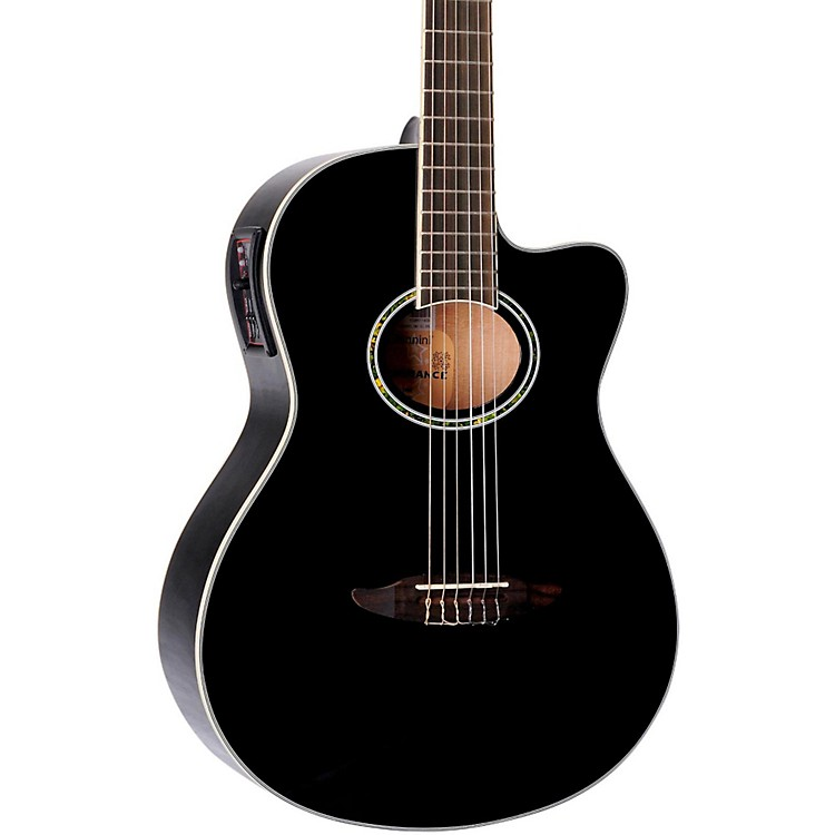 Giannini GNF-8 CEQ Cutaway Nylon String Acoustic-Electric Guitar Black