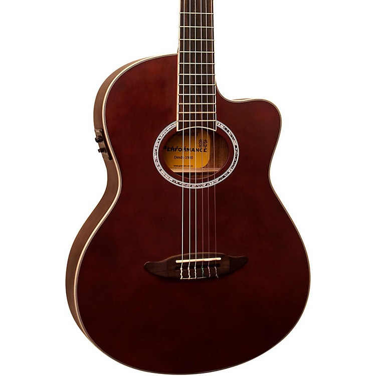 Giannini GNF-8R CEQ Cutaway Nylon String Acoustic-Electric Guitar Satin Natural