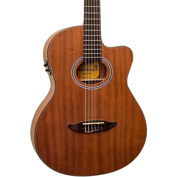 Giannini GNF-8R CEQ Cutaway Nylon String Acoustic-Electric Guitar Satin Walnut