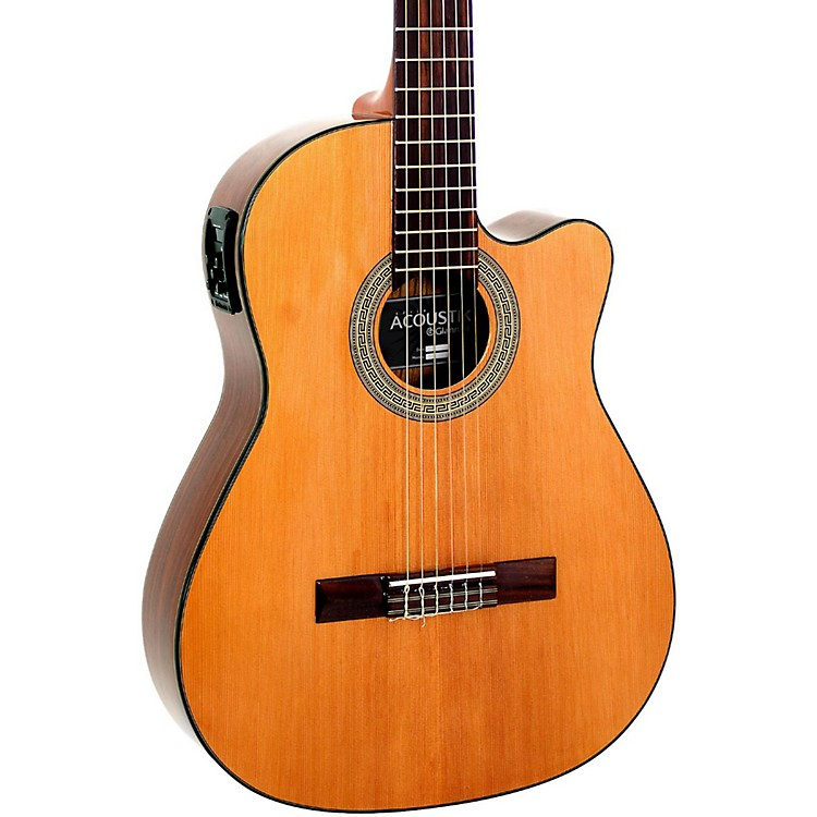 Giannini GNFLE CEQ N Cutaway Nylon String Acoustic-Electric Guitar Natural