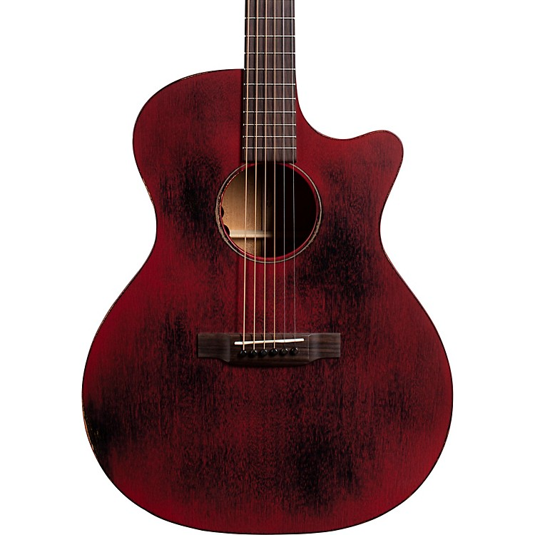 Martin GPC-15ME Special Red StreetMaster Grand Performance Acoustic-Electric Guitar Weathered Red