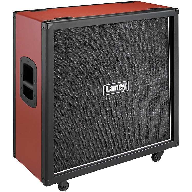 LaneyGS412VR 240W 4x12 Guitar Speaker CabBlack and Red