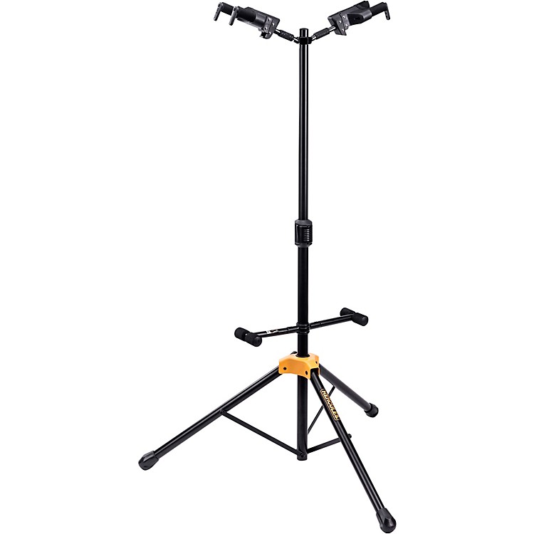 HerculesGS422BPLUS PLUS Series Universal AutoGrip Duo Guitar Stand with Foldable Backrest