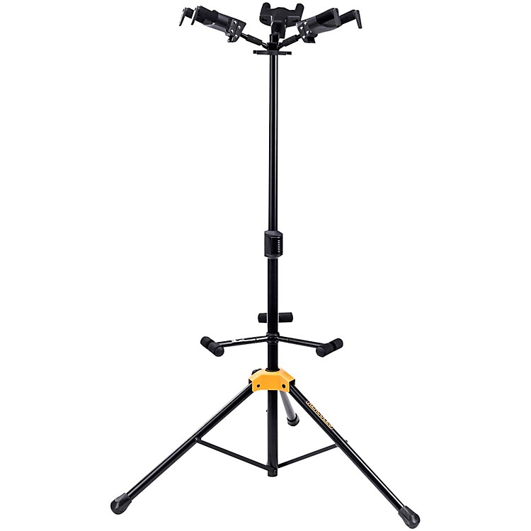 HerculesGS432BPLUS PLUS Series Universal AutoGrip Tri Guitar Stand with Foldable Backrest