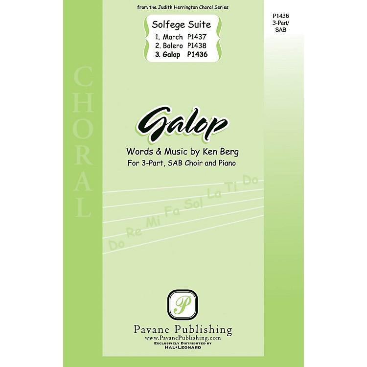 PavaneGalop (from Solfege Suite) SAB composed by Ken Berg