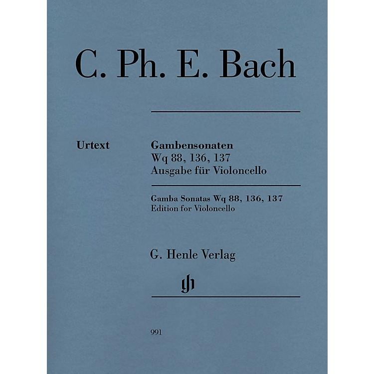 G. Henle VerlagGamba Sonatas Wq 88, 136, 137 Henle Music Folios Composed by C.P.E. Bach Edited by Wolfram Enßlin
