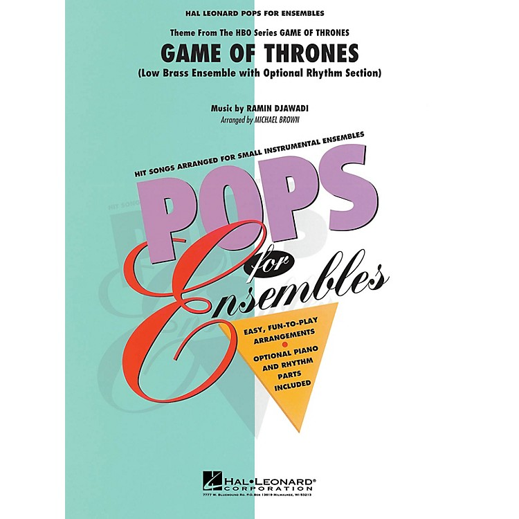 Hal LeonardGame of Thrones (Theme) Concert Band Level 2-3 Arranged by Michael Brown