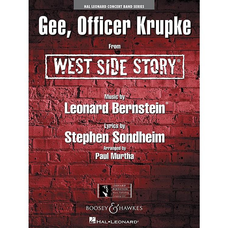 Hal LeonardGee, Officer Krupke (from West Side Story) Concert Band Level 4 Arranged by Paul Murtha
