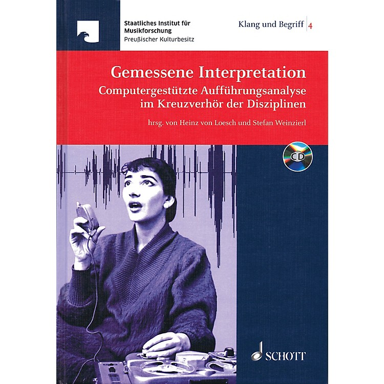 Schott Gemessene Interpretation Schott Series Hardcover with CD
