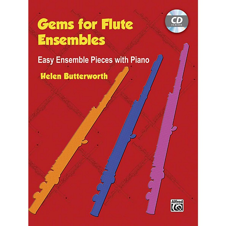 AlfredGems for Flute Ensembles: Easy Ensemble Pieces with Piano Book & CD